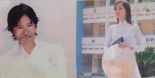 Hình ảnh 15 năm trước của Hoàng Bách và bà xã.