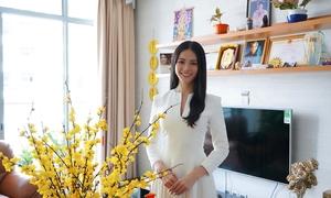 Hoa hậu Phương Khánh sống cùng em trai trong căn hộ cao cấp