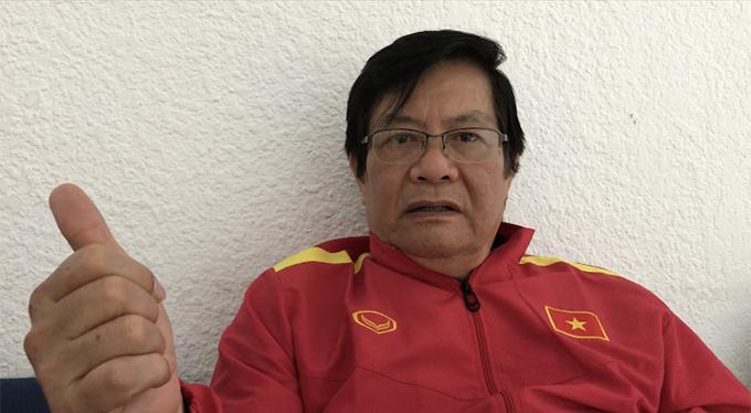 Ông Nguyễn Sỹ Hiển - Trưởng đoàn tuyển Việt Nam tại Asian Cup 2019. Ảnh: Đương Phạm.