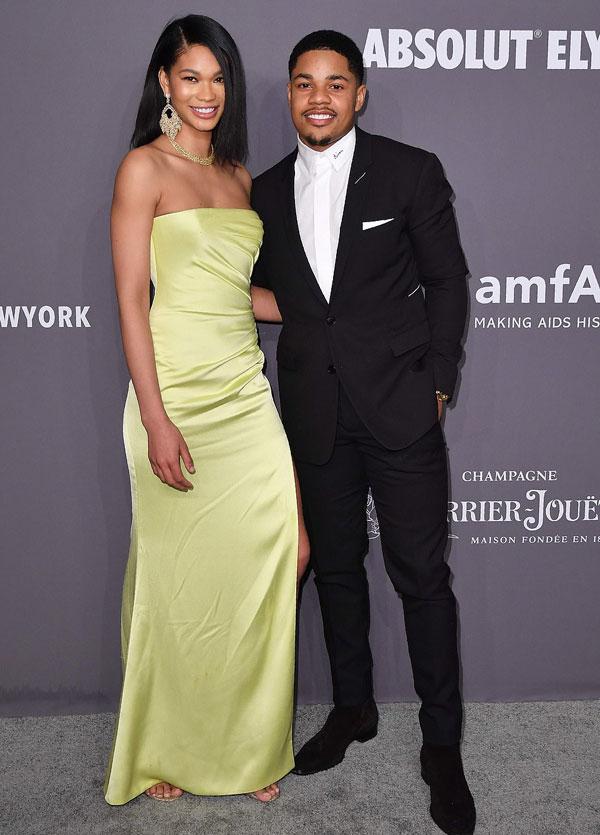 Người đẹp Chanel Iman đến cùng bạn trai.