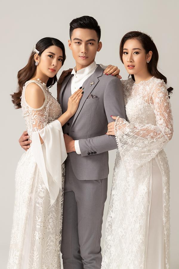 Trong bộ sưu tập áo dài Vườn tình nhân, Văn Thành Công đã chọn thêm các mẫu suit hợp xu hướng xuân hè 2019 cho Mạc Trung Kiên để mang tới sự phong phú cho các shoot hình.