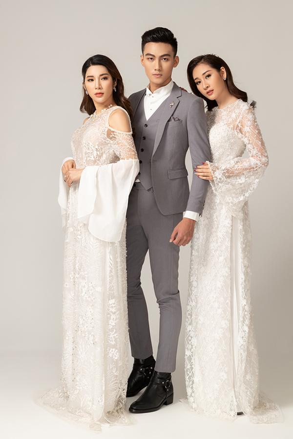 Suit tông xám với kiểu dáng hiện đại tôn nên nét thanh lịch nhưng vẫn giữ được vẻ trẻ trung cho quán quân The Face 2018.