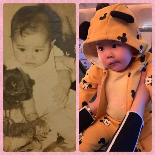Ca sĩ Thanh Thảo so sánh ảnh hồi nhỏ của mình và con gái.  Búp bê mẹ và Búp bê con có giống nhau không cả nhà?.