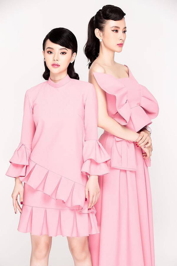 Angela Phương Trinh và em gái cùng xuất hiện trong bộ sưu tập dành riêng cho dịp Valentine 2019.