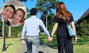 Cường Đôla nắm tay vợ sắp cưới đi chơi ở Đà Lạt