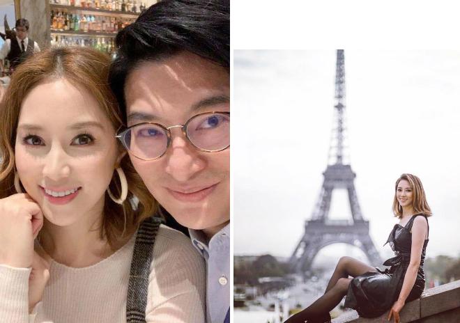 Từ Tử Kỳ cùng chồng tận hưởng năm mới ở Paris.