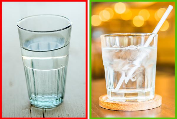 Uống nước lạnh Uống nước lạnh khiến bạn tiêu đốt nhiều calories hơn nước nguội. Bạn có thể thêm đá vào các đồ uống, tuy nhiên, đừng thêm quá nhiều.