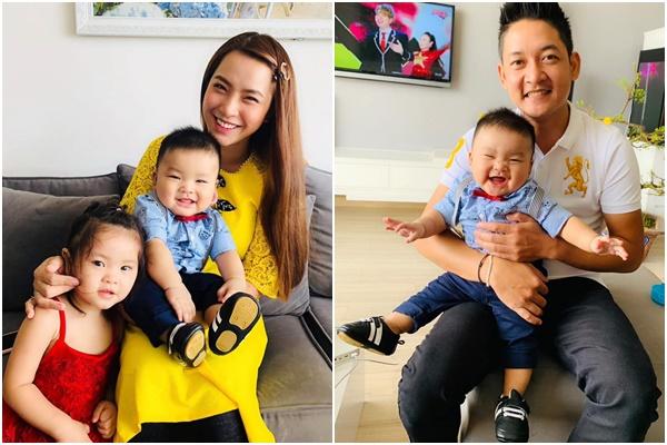 Vợ chồng Hải Băng - Thành Đạt đón Tết hạnh phúc bên hai con.