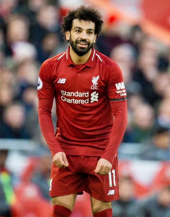 Salah khi ghi bàn thắng trong trận đấu với Bournemouth một ngày trước đó