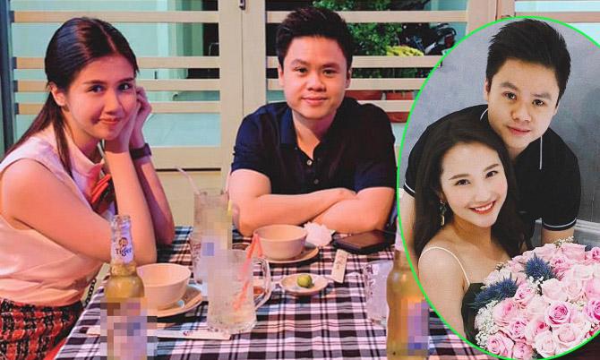 Phan Thành đi ăn cùng Phương Đài (trái) và hạnh phúc bên Primmy Trương khi còn mặn nồng (phải).
