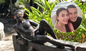 Lương Thế Thành tắm bùn, tạo dáng 'lầy lội' cho vợ chụp ảnh