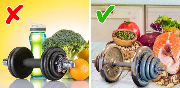 Không nên ăn quá ít khi tập luyện Để giảm cân, bạn đương nhiên cần tập luyện kết hợp với chế độ ăn lành mạnh nhưng không vì thế mà cắt giảm khẩu phần ăn tối đa. Bạn cần ăn đủ chất dinh dưỡng để cơ thể có năng lượng hoạt động và tập luyện.