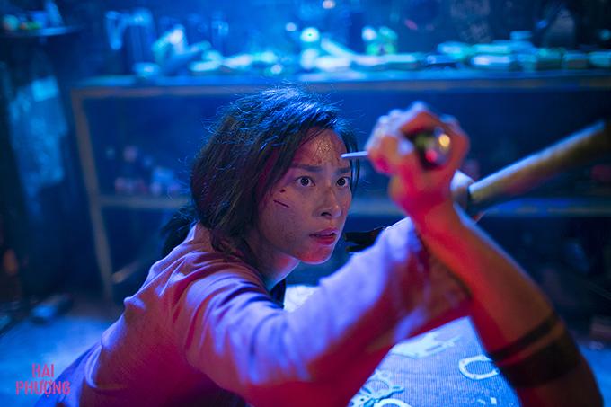 Ngô Thanh Vân trong một cảnh phim đấu võ.