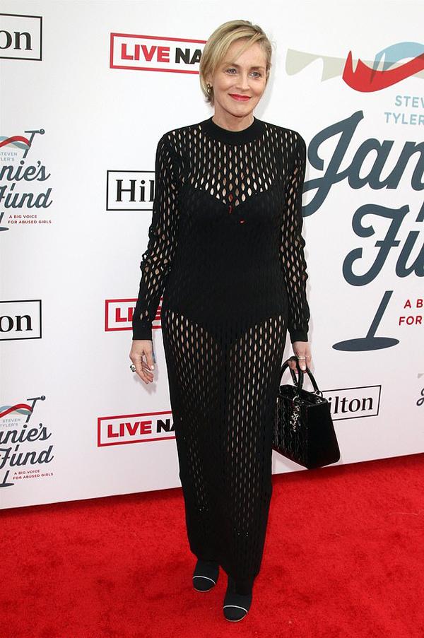 Nhiều ngôi sao tham dự sự kiện từ thiện do Steven Tyler tổ chức như minh tinh Sharon Stone.