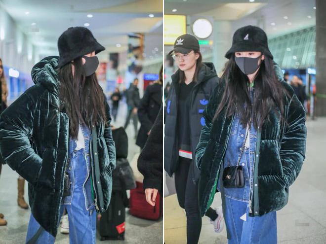 Nữ diễn viên lên đường ra nước ngoài dự sự kiện.