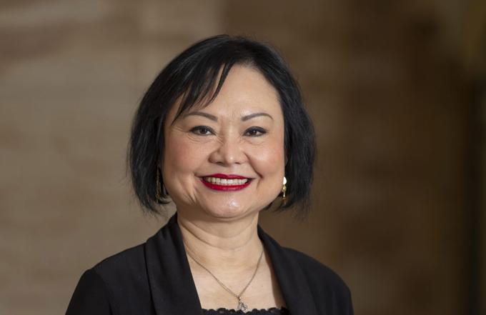 Bà Phan Thị Kim Phúc - Em bé Napalm, hiện 55 tuổi và sống ở Canada. Ảnh: AP.