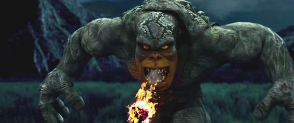 Hình ảnh chằn tinh trong phim Cuộc chiến với chằn tinh được vẽ vụng về bằng máy tính.