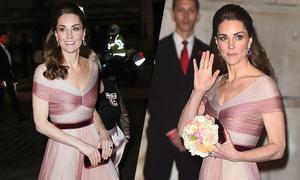 Kate diện váy Gucci dự dạ tiệc trước Valentine