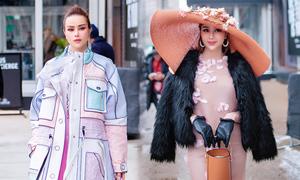Sella Trương biến hóa phong cách dự New York Fashion Week