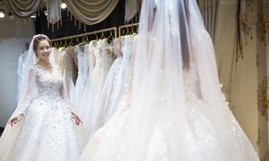 2 trong 5 váy cưới của Vũ Ngọc Ánh lộ diện trước giờ G