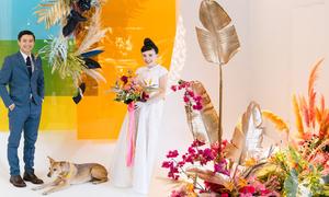 Tiệc cưới rực rỡ tựa sắc cầu vồng của uyên ương Việt - Mỹ