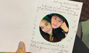 Ảnh hot 17/2: Huỳnh Anh viết thư tay cho bạn gái Việt kiều