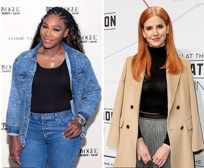 Hai trong số nhiều bạn thân của Megha: Serena Williams (bìa trái) và diễn viên phim Suits Sarah Rafferty (bìa phải). Ảnh: Wire Image.