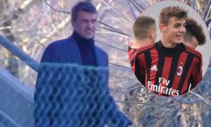 Paolo Maldini đứng lấp ló xem con trai 17 tuổi ghi bàn