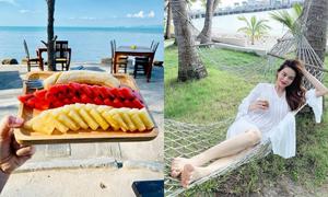 Hà Hồ khoe cả gia đình 2 kg sau 7 ngày detox tại Thái Lan