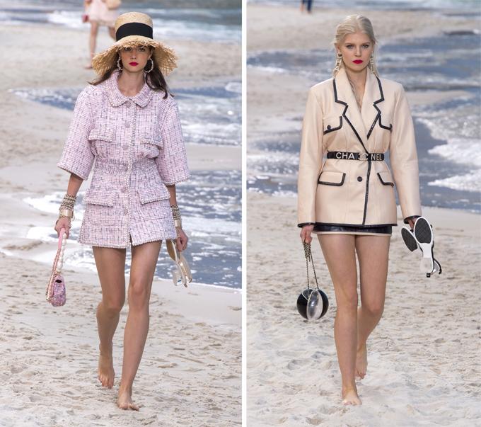 Các thiết kế trẻ trung thuộc bộ sưu tập Chanel Xuân hè 2019.