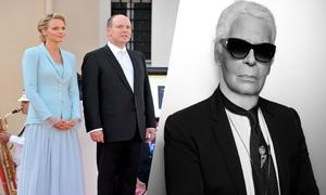 Cô dâu hoàng gia mặc lễ phục phá cách của Karl Lagerfeld