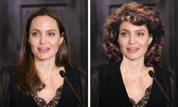 Kiểu đầu này cũng không hợp chút nào với Angelina Jolie.
