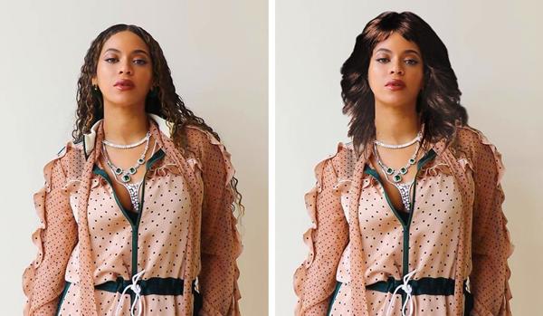 Beyoncé trông như một người hoàn toàn khác.