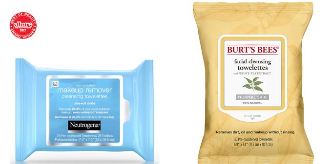 Khăn giấy tẩy trang của Neutrogena và Burts Bees đều có giá bán dưới 200 nghìn đồng.