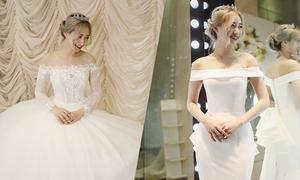 Hot girl Kiều Ly hóa cô dâu tinh khôi với váy cưới cổ điển