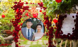 Lễ vu quy, đám cưới ngập sắc đỏ của hoa hồng Ecuador