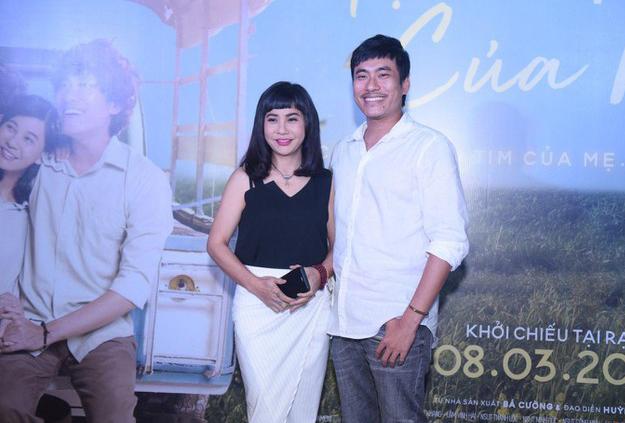 Vợ chồng Cát Phượng - Kiều Minh Tuấn tại sự kiện ra mắt phim.