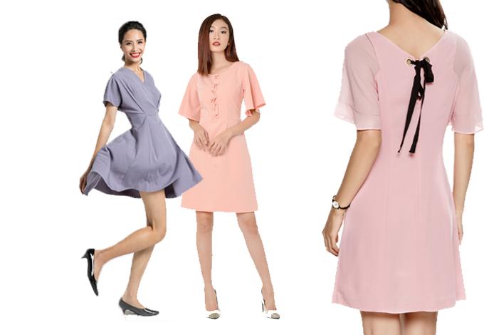 Giản dị nhưng tinh tế, đầm liền thân đơn sắc được nhiều tạp chí thời trang đánh giá sẽ trở thành hot trend trong mùa hè năm nay. Váy thường có một màu, không họa tiết hoặc trang trí cầu kỳ, nhưng các nhà thiết kế đã khéo léo tạo điểm nhấn cho bộ trang phục thông qua cách chít eo, xẻ cổ hoặc điểm xuyến một chiếc nơ đơn giản. Với trang phục công sở, các màu trung tính như tím violet, hồng nhạt hay hồng sen sẽ khiến bạn trở nên thu hút hơn.