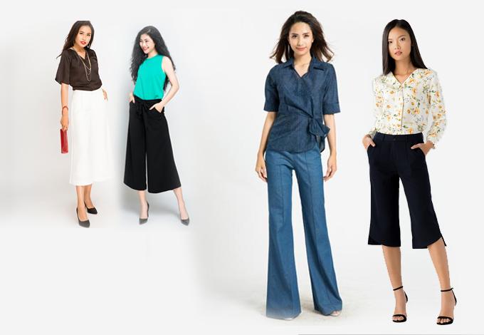 [Caption]culottes (quần ống rộng) vừa trở lại đã chiếm được cảm tình của giới mộ điệu thời trang. Vậy culottes là gì mà khiến cho các tín đồ mê mẩn đến vậy?  Xuất hiện vào đầu những năm 70 của thế kỉ 19, culottes là một loại quần có hai ống rộng hết chiều dài của khổ vải, rộng rãi và xoè to như những chiếc váy. Nếu bạn không thích mặc chiếc váy xoè vì sự bất tiện của nó khi lúc nào cũng phải đi đứng khép nép, thì culottes là một giải pháp tuyệt vời: vừa giữ được sự tiện lợi của một chiếc quần mà vẫn mang được dáng vẻ thướt tha nữ tính và thoải mái của một chiếc váy. Mùa mốt đầu thu năm nay, culottes trở lại đem theo nhiều kì vọng về một xu hướng sẽ