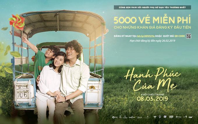 Tặng 5.000 vé xem phim Hạnh phúc của mẹ nhân ngày 8/3