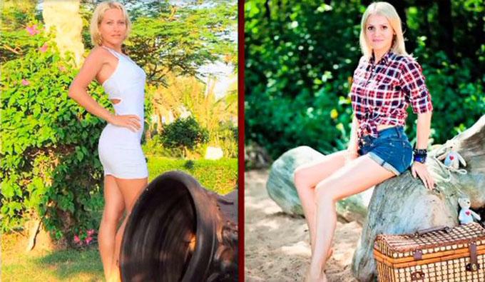 Romanova (trái) ra tay sát hại bồ nhí của chồng là Sokolova (phải), người có ngoại hình giống như bản sao của cô. Ảnh: