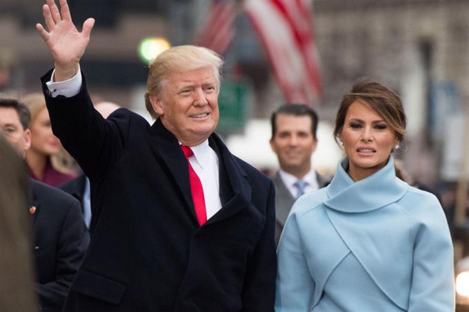 Tổng thống Donald Trump và phu nhân Melania Trump.