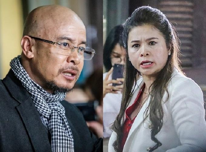Ông Vũ và bà Thảo căng thẳngtại tòa ngày 21/2. Ảnh: Nguyễn Thành.