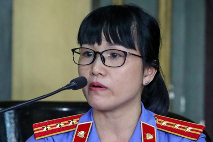 Đại diện Viện kiểm soát tại phiên tòa: Ảnh: Thành Nguyễn.