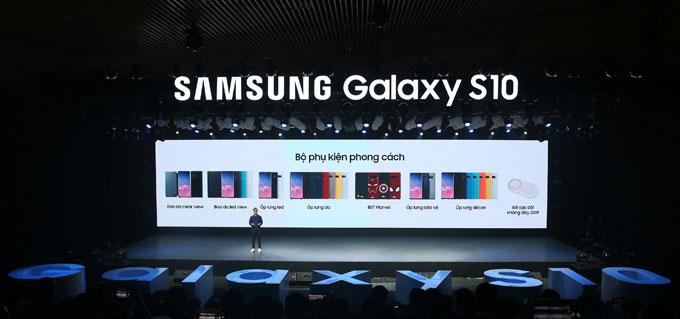 Sân khấu hoành tráng của sự kiện giới thiệu Galaxy S10 tại Việt Nam.