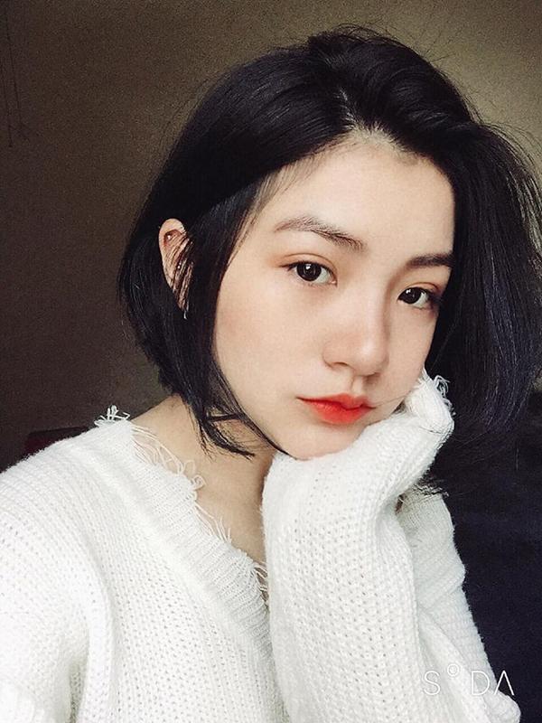 Gương mặt xinh đẹp, thu hút ánh nhìn của Nguyễn Thu Uyên (19 tuổi). Ảnh: FBNV.