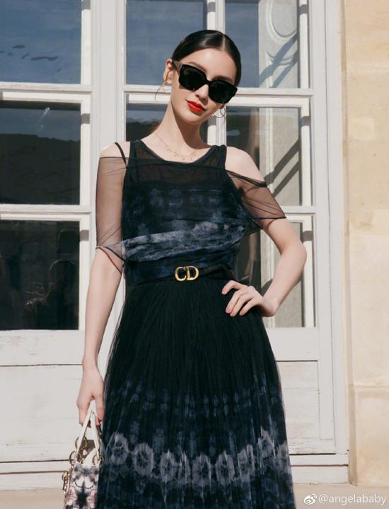 Sau khi dự show của Dior, buổi tối cùng ngày, người đẹp cũng tham dự bữa tiệc do chính thương hiệu này tổ chức.