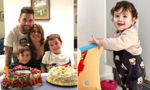 Messi mừng sinh nhật sớm con trai thứ ba