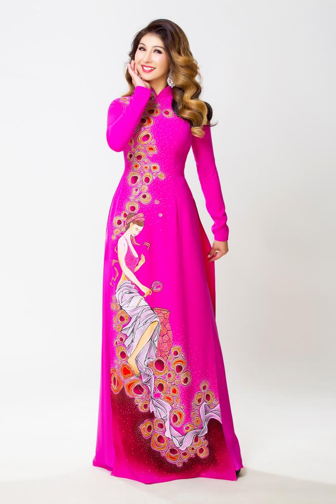 Áo dài nhiều màu sắc cho mẹ cô dâu, chú rể