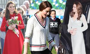 Kate thay trang phục ba lần ngày đầu đến Bắc Ireland